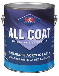 H&K Company  All Coat  Interior/Exterior  Acrylic Latex  Paint  Basic White  Semi-Gloss  1 gal.
