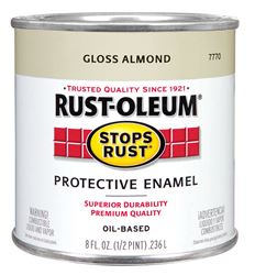 Rust-Oleum  Oil Based  Protective Enamel  Almond  Gloss  1/2 pt.