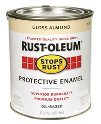 Rust-Oleum  Oil Based  Protective Enamel  Almond  Gloss  1 qt.