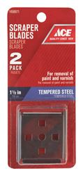 Ace  1-1/2 in. W Four Edge  Tempered Steel  Scraper Blade