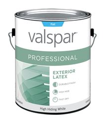 Valspar  Contractor Professional  Exterior  Acrylic Latex  Paint  High Hiding White  Flat  1 gal.