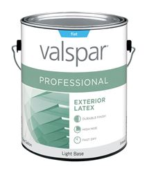 Valspar  Contractor Professional  Exterior  Acrylic Latex  Paint  Flat  1 gal. Light Base