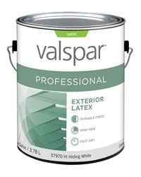 Valspar  Contractor Professional  Exterior  Latex  Paint  Satin  1 gal. White Base