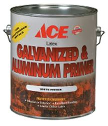 Ace  Latex  Interior and Exterior  Galvanized & Aluminum Primer  1 gal. White