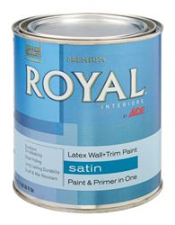 Ace  Royal  Interior  Acrylic Latex  Wall & Trim Paint  Ultra White  Satin  1 qt.