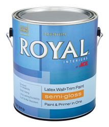 Ace  Semi-Gloss  Interior Latex Wall+Trim Paint  50g/L  White  1 gal.