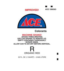 Ace  Universal Machine  R Organic Red  Paint Colorant  1 qt.