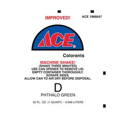 Ace  Universal Machine  D Phthalo Green  Paint Colorant  1 qt.