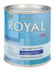 Ace  Royal  Interior  Acrylic Latex  Wall & Trim Paint  Ultra White  Eggshell  1 qt.