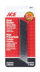 Ace  Heavy Duty  Snap Blade Knife  Replacement Blade  5 pk
