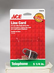 Ace  5.3 ft. L Metallic  Telephone Line Cord