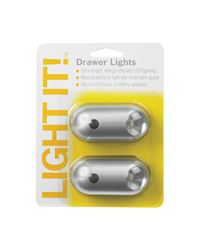 Fulcrum  LIGHT IT  Battery  LED  Tap Light  Silver  6 lumens