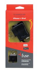 Fonegear  Black  Apple  iPhone and iPod  Wall Charger  5 ft. L