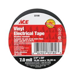 Ace  3/4 in. W x 60 ft. L Vinyl  Electrical Tape  Black