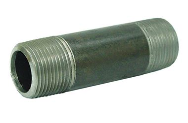 Ace  1-1/2 in. Dia. x 1-1/2 in. Dia. x 2 in. L Schedule 40  MPT To MPT  Galvanized  Steel  Pipe Nipp