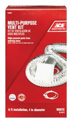 Ace  4 in. Dia. x 8 ft. L Dryer Vent Kit  White