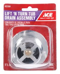 Ace  1-1/2 in. Chrome  Round  Drain Assembly