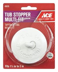 Ace  1-1/2 to 2 in. Dia. Tub Stopper  Rubber