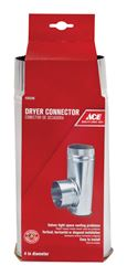 Ace  4 in. Dia. Offset Dryer Connector  Aluminum