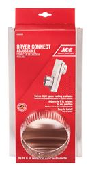 Ace  4 in. Dia. x 6 in. L Adjustable Dryer Connector  Aluminum