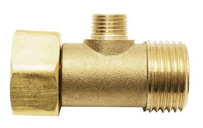 Ace  1/2 in. Dia. x 3/8 in. Dia. FIPT To Male Compression  Brass  Add A Tee Adapter