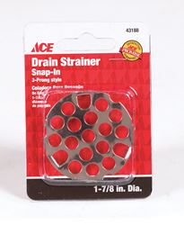 Ace  1-7/8 in. Dia. Sink Strainer  Chrome