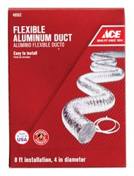 Ace  4 in. Dia. x 8 ft. L Dryer Vent Duct  Aluminum