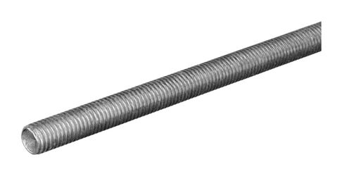 Boltmaster  10-24 in. Dia. x 3 ft. L Zinc-Plated Steel  Threaded Rod