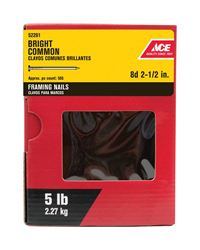 Ace  2-1/2 in. L Common  Nail  Smooth  Bright  Steel  5 lb.