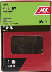 Ace  3/4 in. Galvanized  Poultry Staples  1 lb.