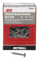 Ace  Cement Board Screws  Phillips  High/Low  No. 8  1-5/8 in. L Ceramic  1 lb. Gray
