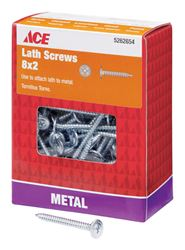 Ace  Lath Screws  Phillips  Tapping  No. 8  2 in. L Zinc  1 lb.
