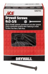 Ace  No. 8   x 2-3/8 in. L Phillips  Drywall Screws  Bugle Head  Black Phosphate  Tapping Thread  1