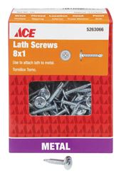 Ace  Lath Screws  Phillips  Tapping  No. 8  1 in. L Zinc  1 lb.