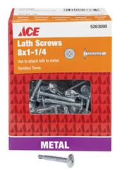 Ace  Lath Screws  Phillips  Tapping  No. 8  1-1/4 in. L Zinc  1 lb.