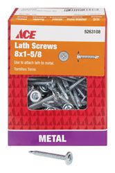 Ace  Lath Screws  Phillips  Tapping  No. 8  1-5/8 in. L Zinc  1 lb.