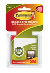 3M Command  12 lb. Foam  Large  Picture Hanging Strips  6 pk