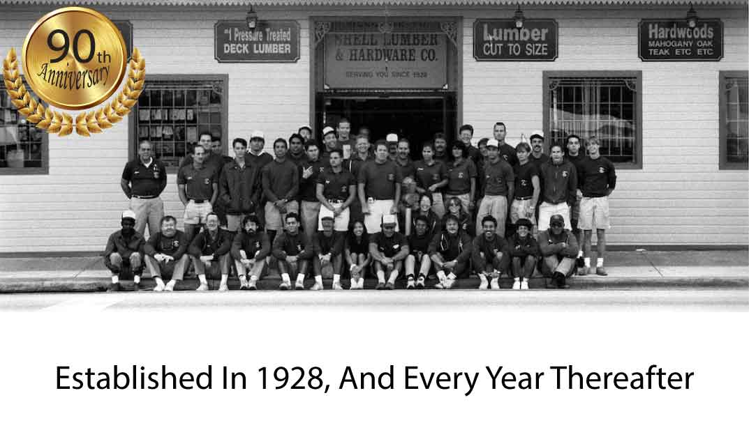 About Shell Lumber and Hardware - Celebrating its 90th Anniversary