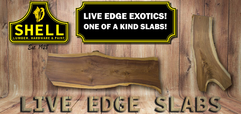 Live Edge Exotic Wood Slabs