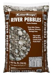 River Rock 1/2 In. to 1 In. size - 50Lb Bag 0.5 Cubic Feet
