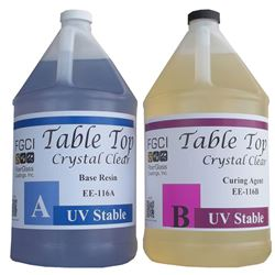 Table Top Epoxy, Crystal Clear, UV Stable, Resin, 2 Gallon Set