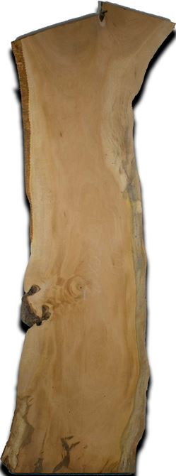 Cuban Mahogany Live Edge Wood Slab 1.5 In. x 18 In. x 70 In.