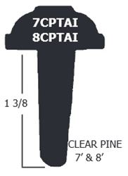 T-Astragal Clear Pine  8 Ft. x  1-3/8 In.