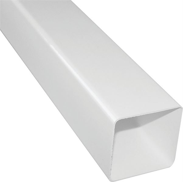 Raingo Rw200 Square Downspout 10 Ft L X 2 1 2 In W X 2 1 2 In White Vinyl 10 Pack Vorg6819643 Rw200