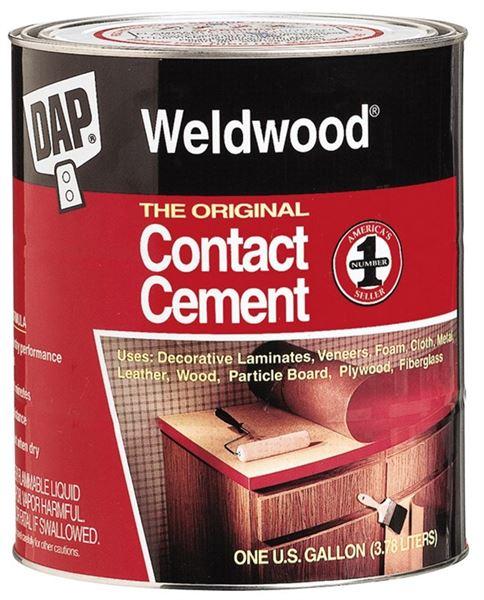 Weldwood 00272 Contact Cement, 1 qt, Bottle, Tan, Liquid