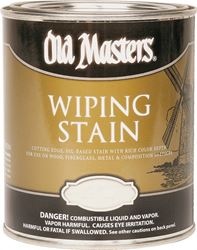Old Masters 13016 Oil Based Wiping Stain, 0.5 pt Can, 500 sq-ft/gal, 130 American Walnut