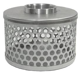 Abbott Rubber Company Srhs-300 Round Hole Hose Strainer, For Use With Pump Suction Hose, 2 In Fnpt, Plated Steel