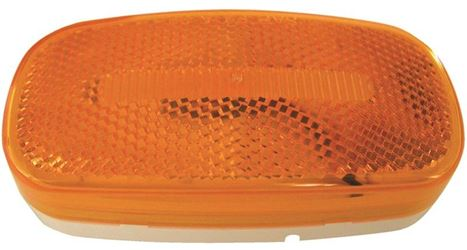 Peterson 180 Clearance/Side Marker Light With Reflex, LED, 4.13 in, Amber