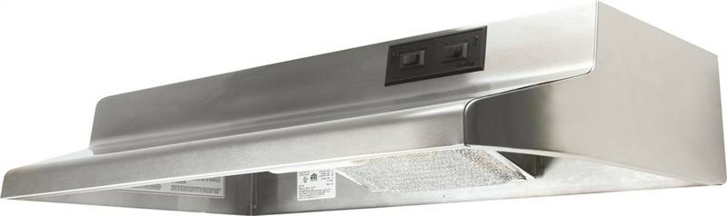 Air King Advantage AX AX1308 Under Cabinet Range Hood, 160 cfm, 3-1/4 X 10 in, Stainless Steel