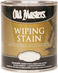 Old Masters 11804 Oil Based Wiping Stain, 1 qt Can, 500 sq-ft/gal, 118 Dark Mahogany